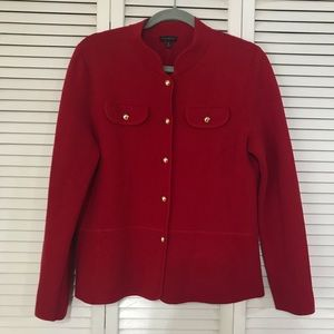 Talbots Red Knit Blazer